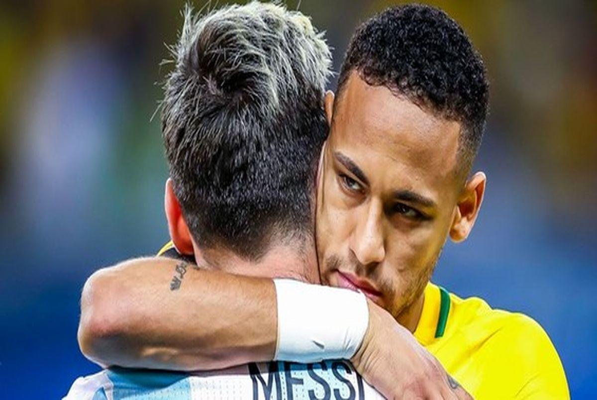 تبریک ویژه نیمار به مسی پس از قهرمانی