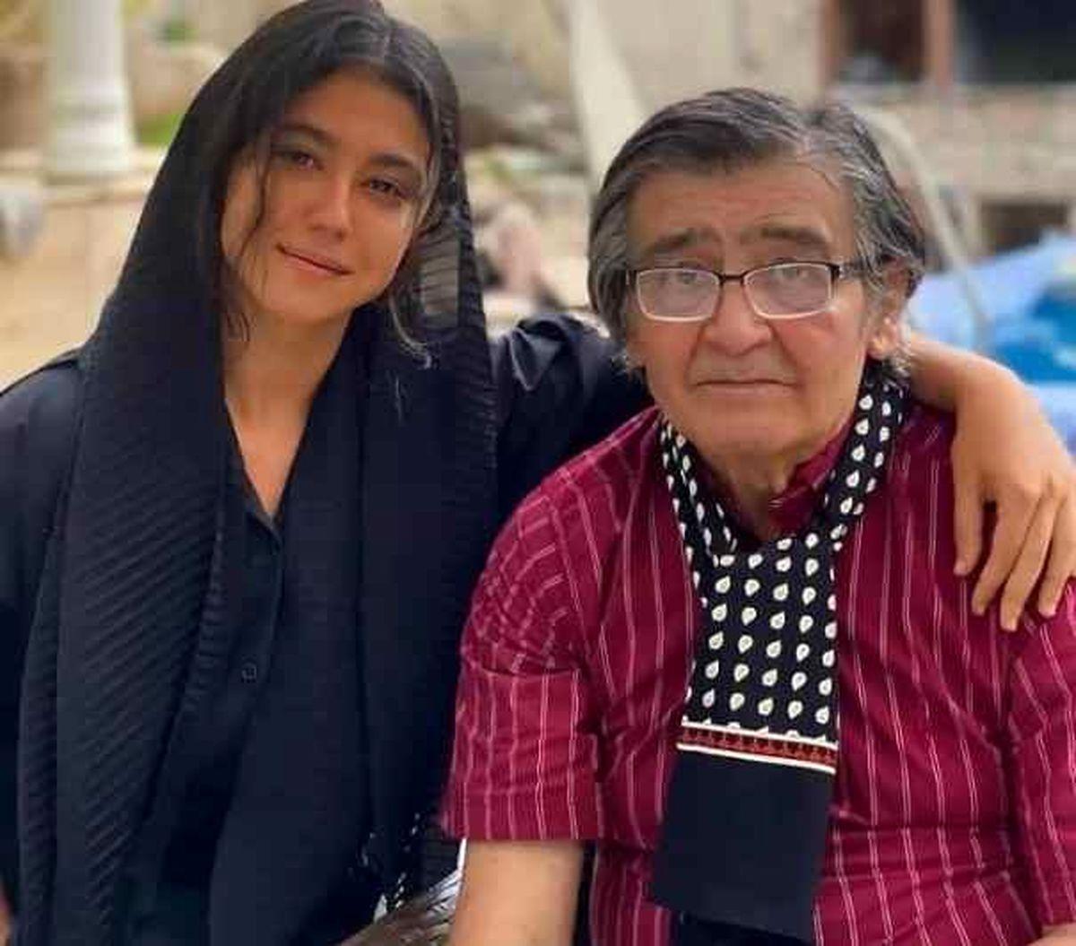عکس عجیب رضا رویگری و همسرش